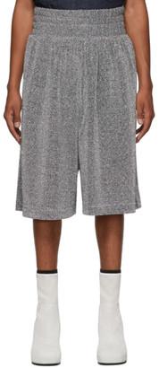 Random Identities Silver Lurex Shorts