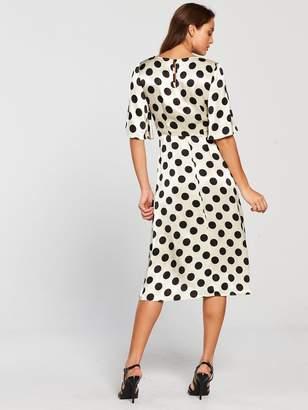 Very Polka Dot JacquardWrap Dress - Monochrome
