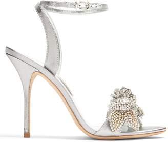 Lilico crystal-embellished lamé sandals