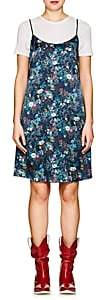 R 13 Women's Floral Silk Charmeuse Slipdress-Navy