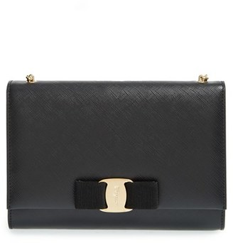 Salvatore Ferragamo 'Miss Vara' Clutch - Black $760 thestylecure.com