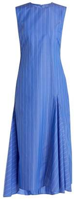 Ellery Nightwood Striped Cotton Midi Dress - Womens - Blue White