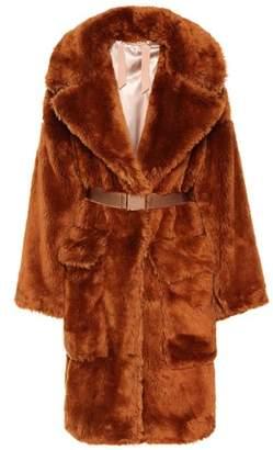 N°21 Belted faux fur coat