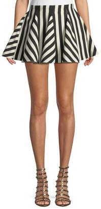 Valentino Re-Edition Organza Stripes Short Skirt