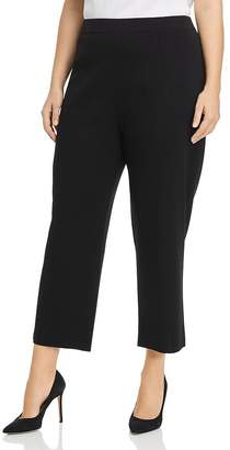 Misook Plus Cropped High-Rise Pants