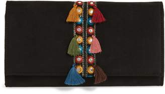 Shiraleah Twila Embroidered Faux Suede Clutch