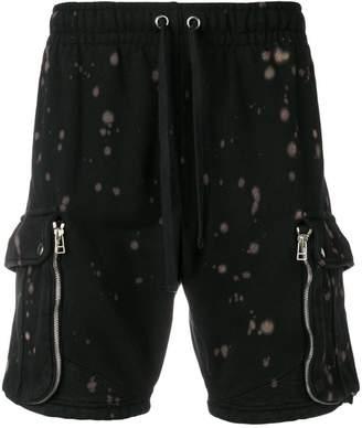Faith Connexion bleached cargo sweat shorts