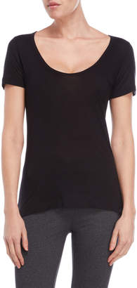 The Kooples Sport Black V-Neck Jersey Tee