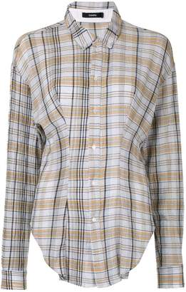 Bassike asymmetric check print shirt