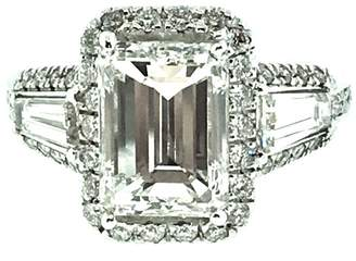 18K White Gold & 3.12ct Diamond Halo Ring Size 6