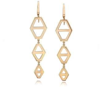 Walters Faith Keynes 18K Three Drop Signature Hexagon Earrings