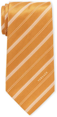 Versace Textured Stripes Silk Tie