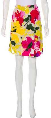 Marni Semi-Sheer Floral Print Skirt