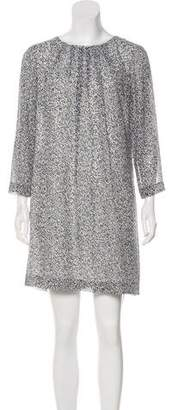 Armani Exchange Tie-Accented Mini Dress