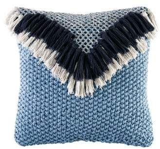 Fringe Knit Accent Pillow