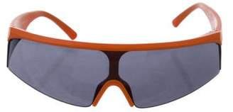 Y-3 Tinted Half-Rim Sunglasses