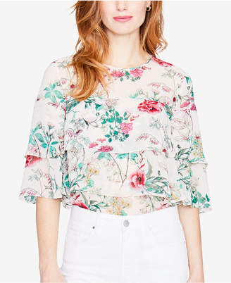 Rachel Roy Floral-Print Tiered Top, Created for Macy's