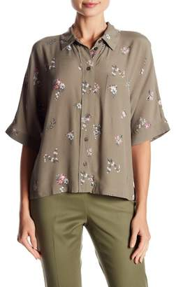 Vince Camuto Ditsy Button Down Floral Blouse