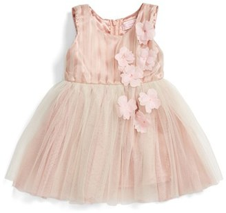 Infant Girl's Popatu Sleeveless Rosette Tulle Dress $44 thestylecure.com