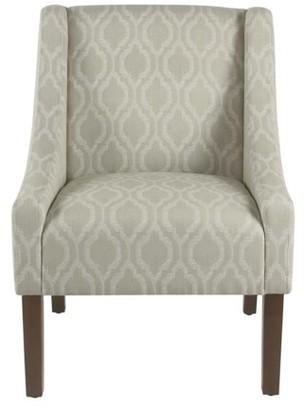At Walmart.com · HomePop Modern Swoop Arm Chair, Multiple Colors