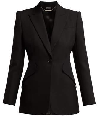 Alexander McQueen Single Breasted Crepe Blazer - Womens - Black