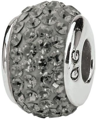 Swarovski Prerogatives Sterling Full Silver/Gray Crystal Bead
