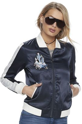 Women's Juicy Couture Satin Bomber Jacket $64 thestylecure.com