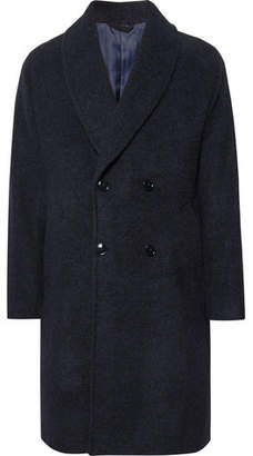 Piombo MP Massimo Double-Breasted Shawl-Collar Baby Alpaca-Blend Coat