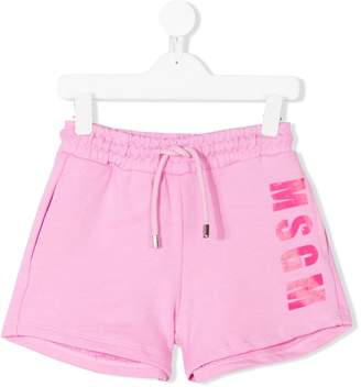 MSGM Kids logo track shorts
