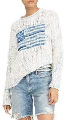 Polo Ralph Lauren Cotton Flag Sweater