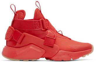 Nike Red Air Huarache City Sneakers