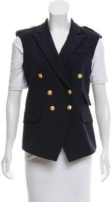 Band Of Outsiders Double-Breasted Raw-Edge Vest