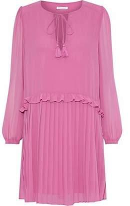 Rebecca Minkoff Morrison Pleated Chiffon Mini Dress