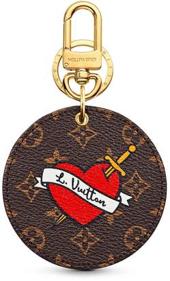 Louis Vuitton Bag Charm and Key Holder Stories Monogram Patches Brown Multicolor