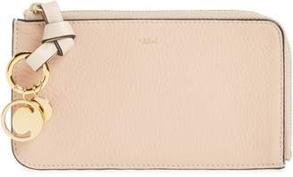 Chloé Medium Alphabet Leather Charm Wallet