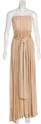Max Mara Satin Strapless Dress