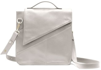 Holly & Tanager Wanderer Leather Crossbody Purse In Cream