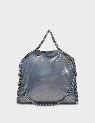 Stella McCartney Metallic Shaggy Deer Three Chains Falabella Bag in Blue Lagoon Eco Leather