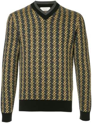 Cerruti geometric knit sweater
