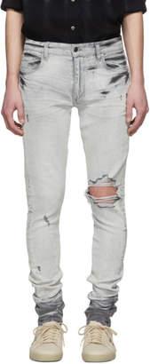 Amiri White Broken Jeans