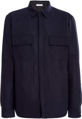 Frame Wool-Blend Collared Jacket
