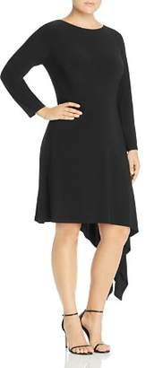 Adrianna Papell Plus Matte Jersey Asymmetric Hem Dress