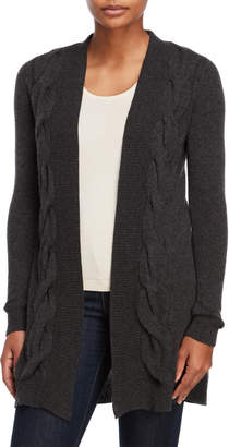 Sofia Cashmere Grey Cashmere Open Cardigan