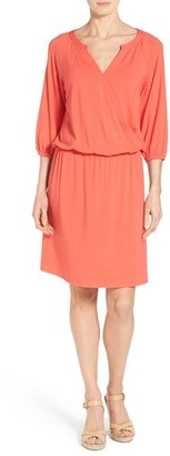 Women's Tommy Bahama 'Tambour' Jersey Surplice Blouson Dress $138 thestylecure.com