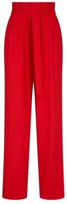 Alice + Olivia Farrel Tie-Waist Trousers