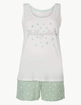 Marks and Spencer Bridesmaid Printed Short Pyjama Set