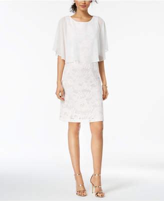 Connected Lace Capelet Dress