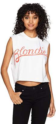 Goodie Two Sleeves Junior's Fiction Pulp Silhouettes Wrd Ringer Top