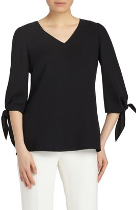 Women's Lafayette 148 New York Kenna Double Silk Georgette Blouse $448 thestylecure.com