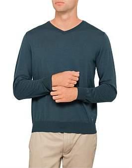Paul & Shark V Nk Fine Gauge Wool Sweater